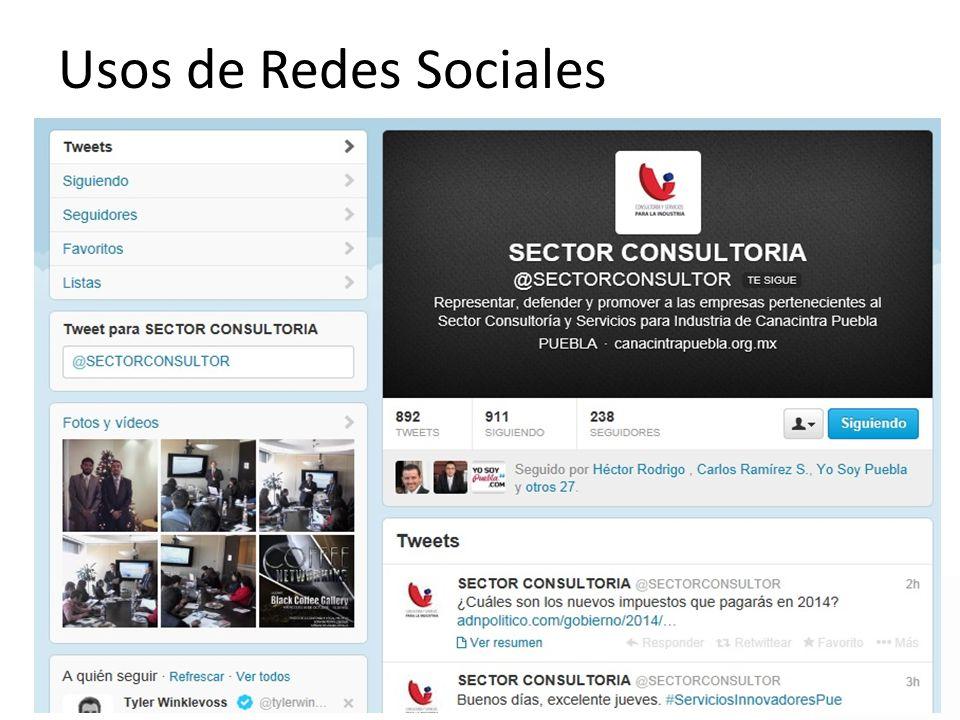 Usos de Redes Sociales