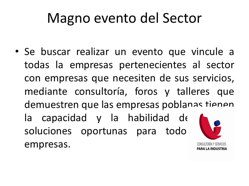 Magno evento del Sector