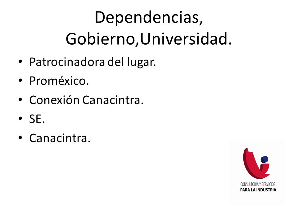 Dependencias, Gobierno,Universidad.