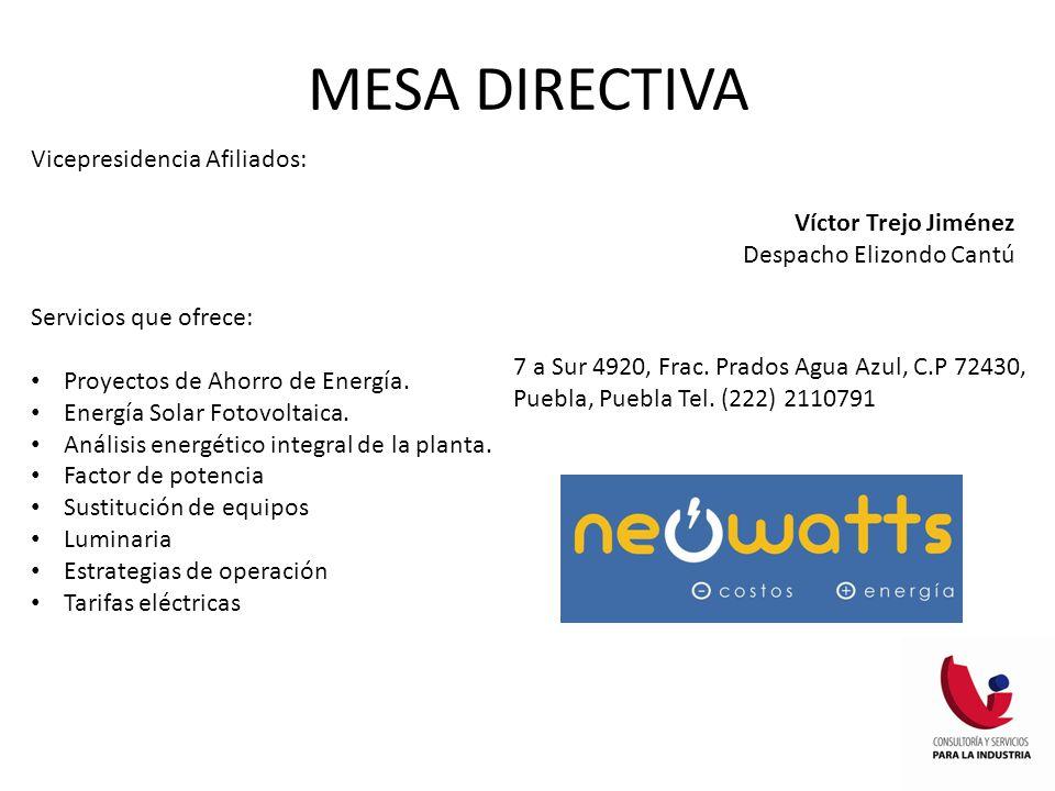 MESA DIRECTIVA Vicepresidencia Afiliados: Víctor Trejo Jiménez