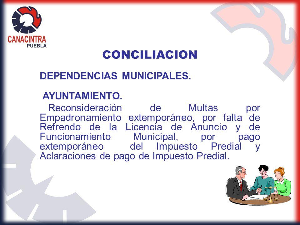 CONCILIACION DEPENDENCIAS MUNICIPALES. AYUNTAMIENTO.
