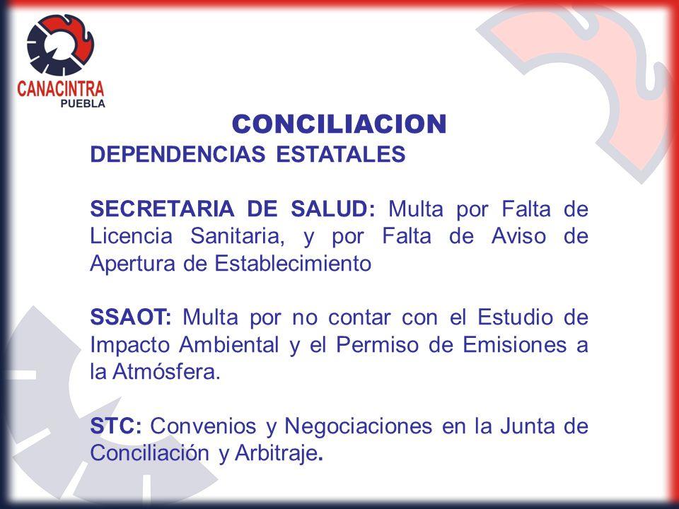CONCILIACION DEPENDENCIAS ESTATALES