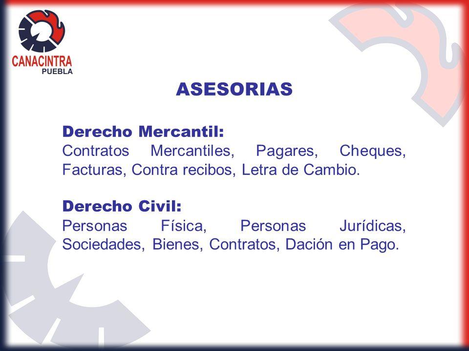 ASESORIAS Derecho Mercantil: