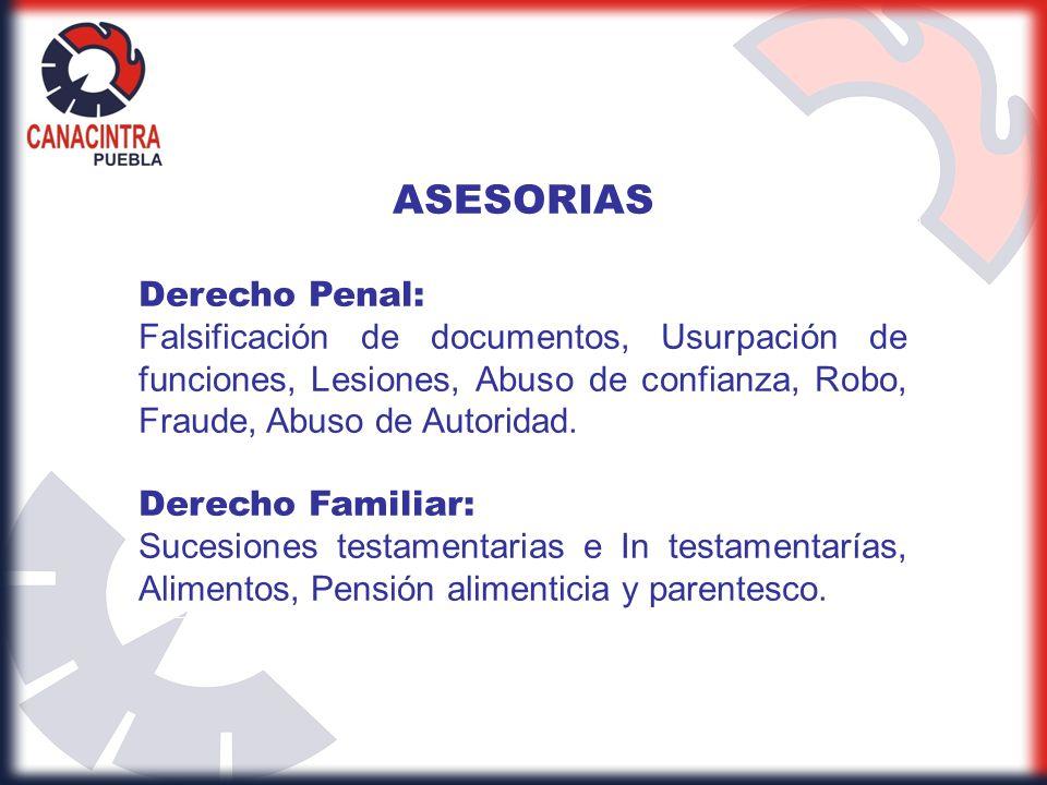 ASESORIAS Derecho Penal: