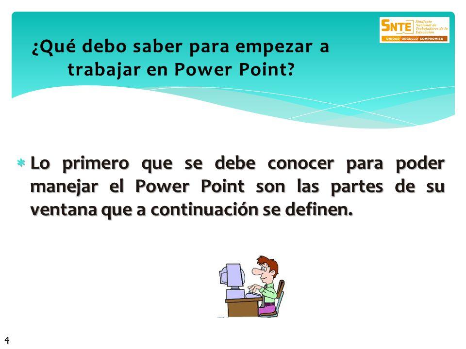 ¿Qué debo saber para empezar a trabajar en Power Point