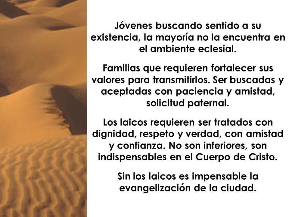 Sin los laicos es impensable la evangelización de la ciudad.