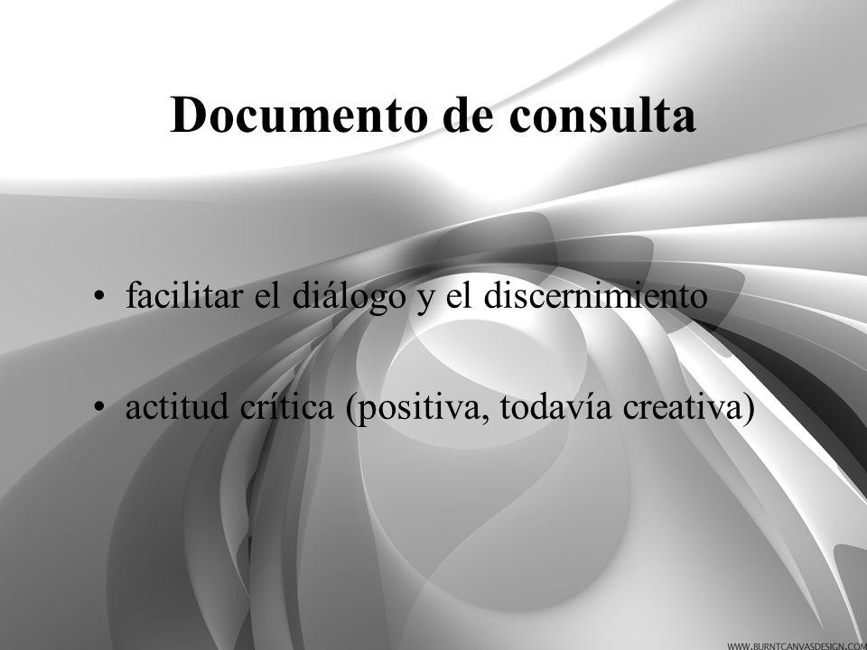 Documento de consulta facilitar el diálogo y el discernimiento