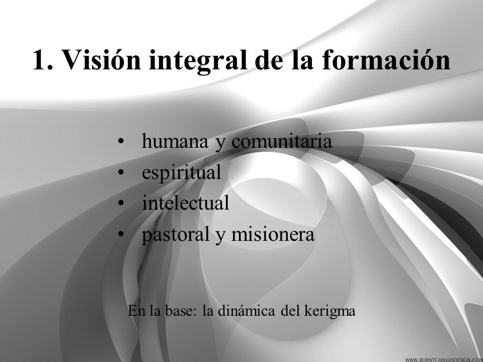 1. Visión integral de la formación