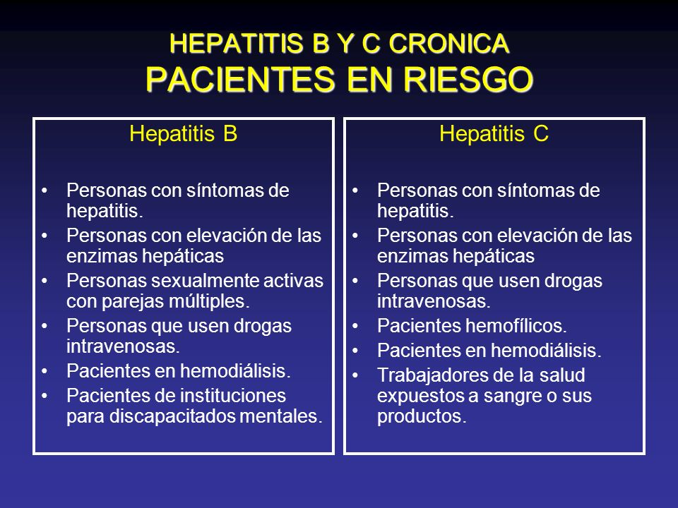HEPATITIS B Y C CRONICA PACIENTES EN RIESGO
