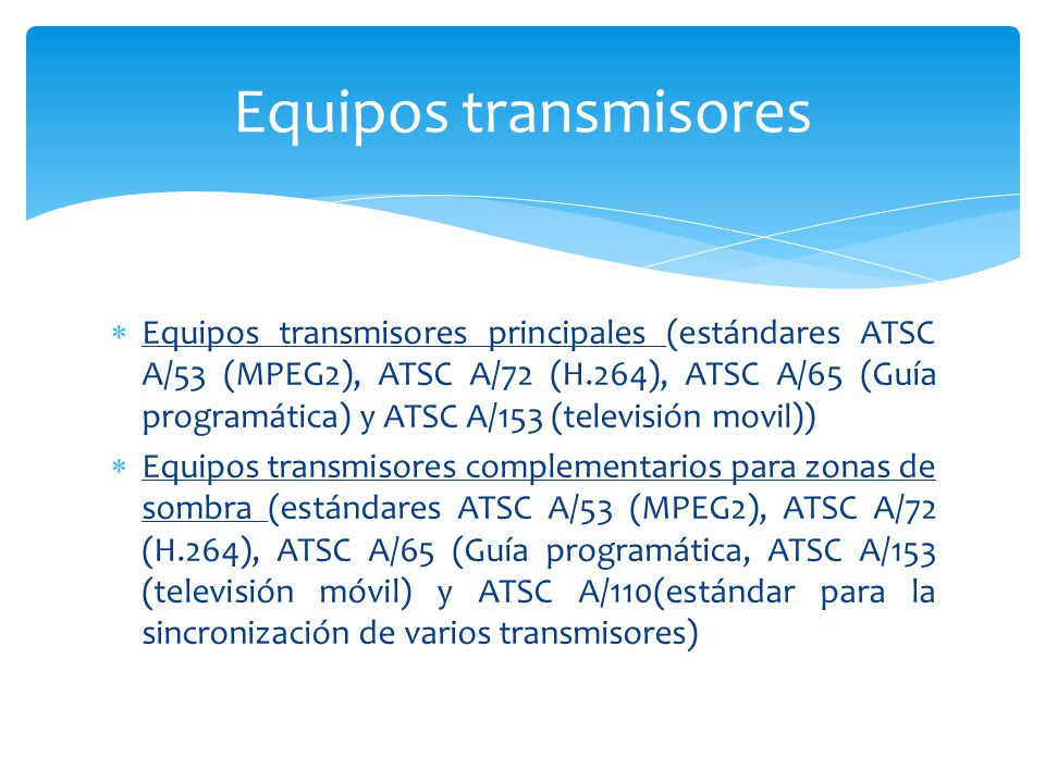 Equipos transmisores