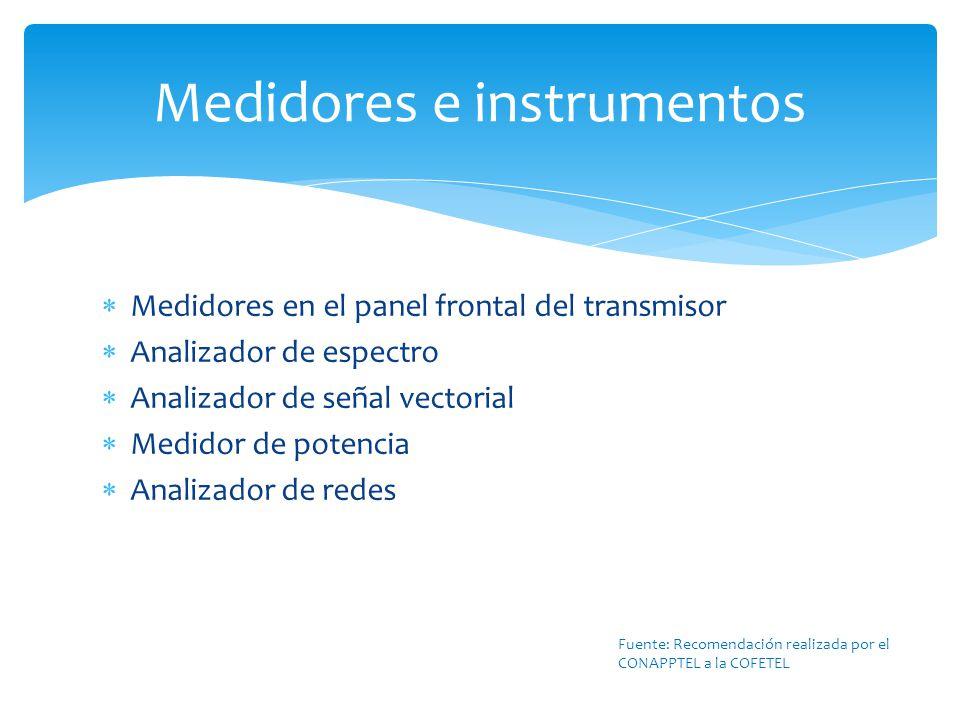 Medidores e instrumentos