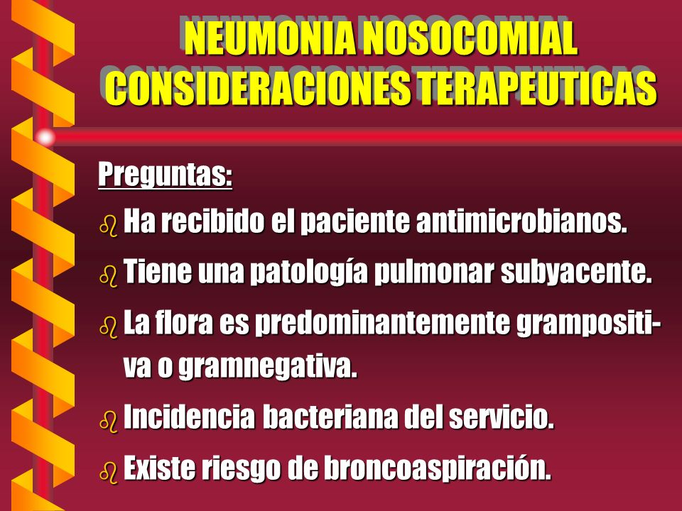 NEUMONIA NOSOCOMIAL CONSIDERACIONES TERAPEUTICAS