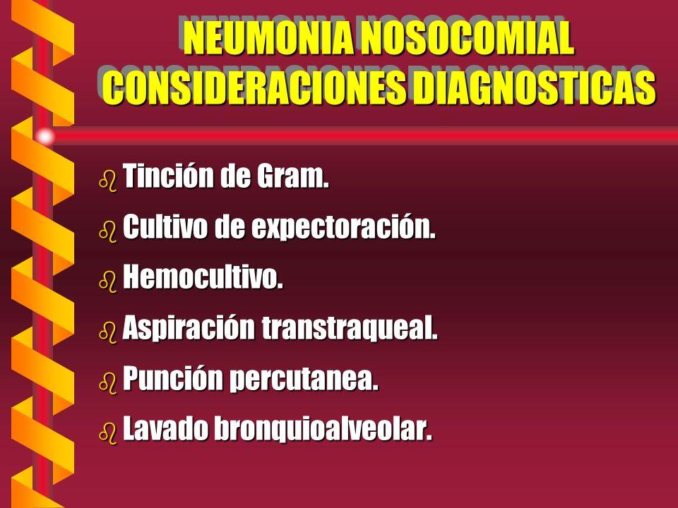 NEUMONIA NOSOCOMIAL CONSIDERACIONES DIAGNOSTICAS