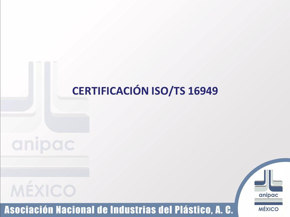 CERTIFICACIÓN ISO/TS 16949