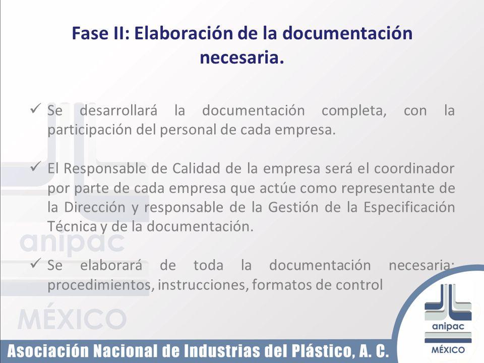 Fase II: Elaboración de la documentación necesaria.