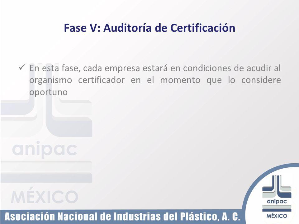 Fase V: Auditoría de Certificación