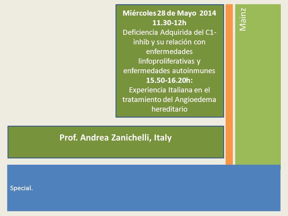 Prof. Andrea Zanichelli, Italy