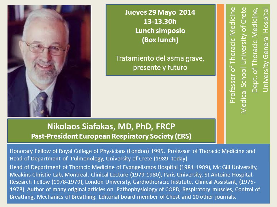 Nikolaos Siafakas, MD, PhD, FRCP