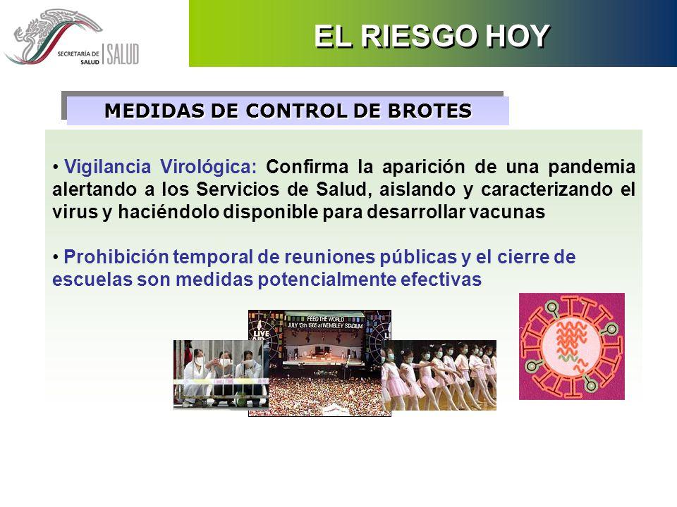 MEDIDAS DE CONTROL DE BROTES