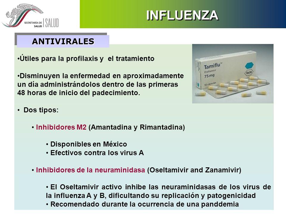 INFLUENZA ANTIVIRALES Útiles para la profilaxis y el tratamiento