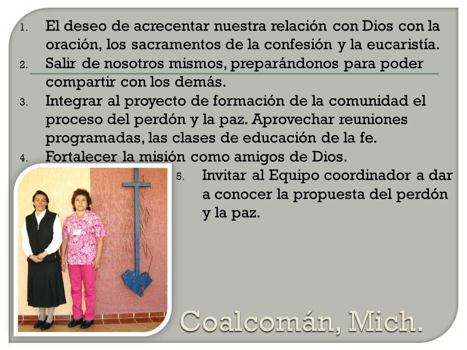 El deseo de acrecentar nuestra relación con Dios con la oración, los sacramentos de la confesión y la eucaristía.