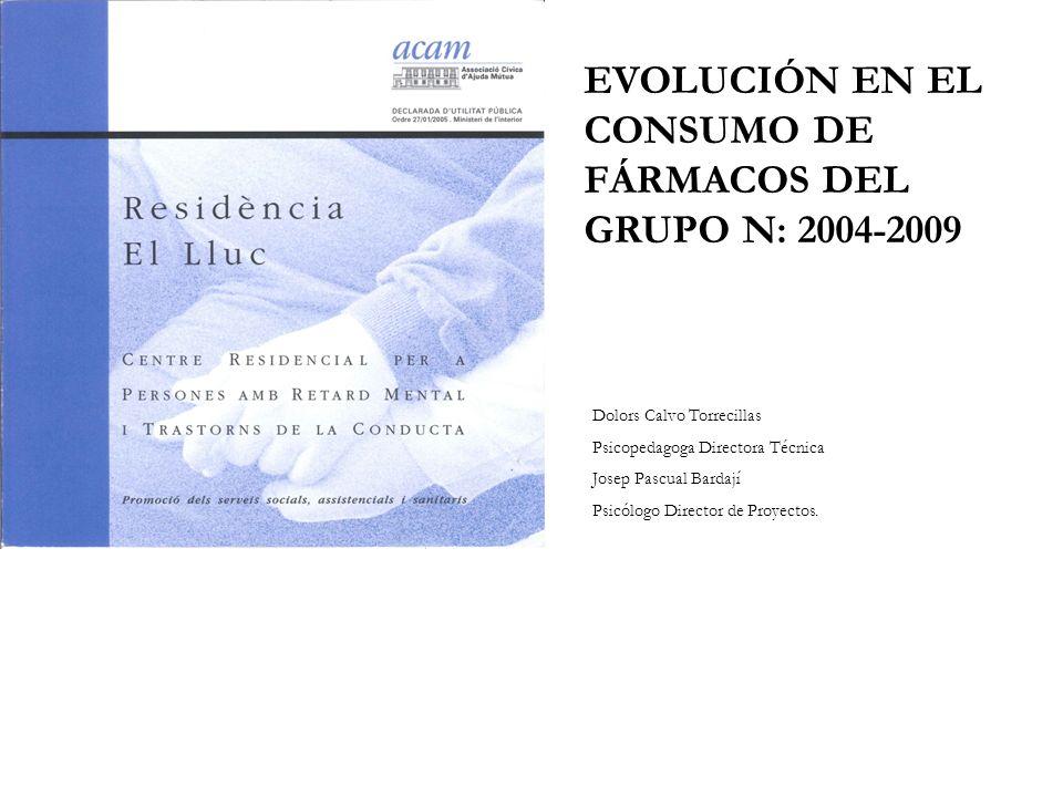 EVOLUCIÓN EN EL CONSUMO DE FÁRMACOS DEL GRUPO N: 2004-2009