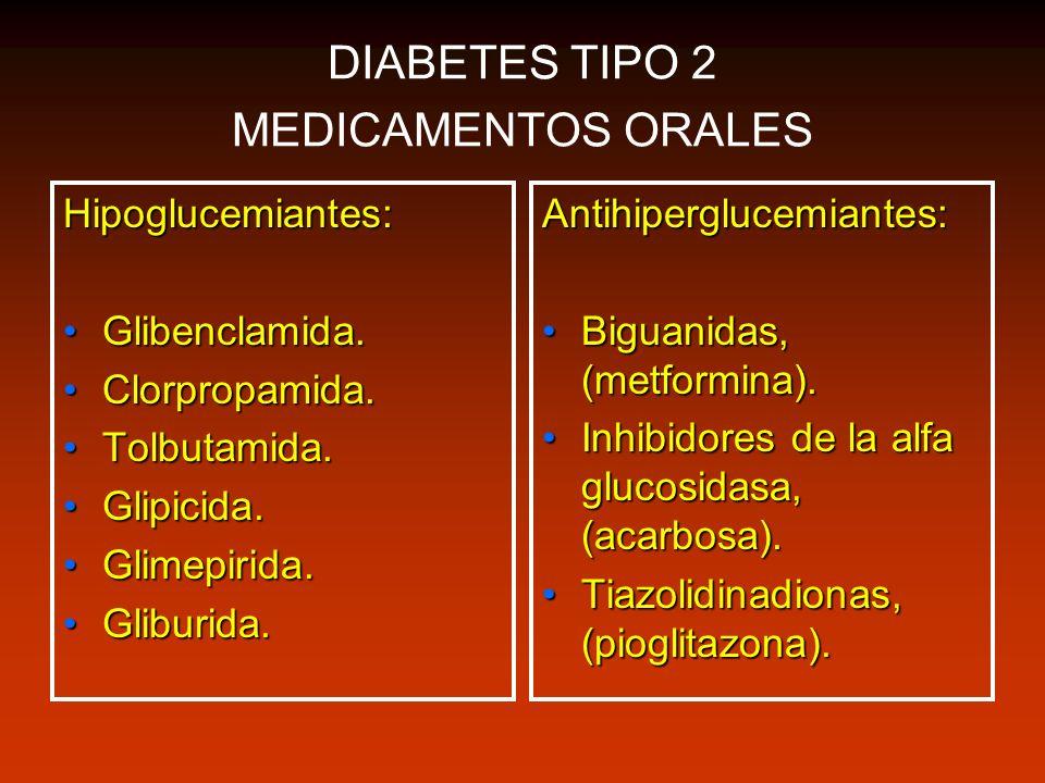 DIABETES TIPO 2 MEDICAMENTOS ORALES