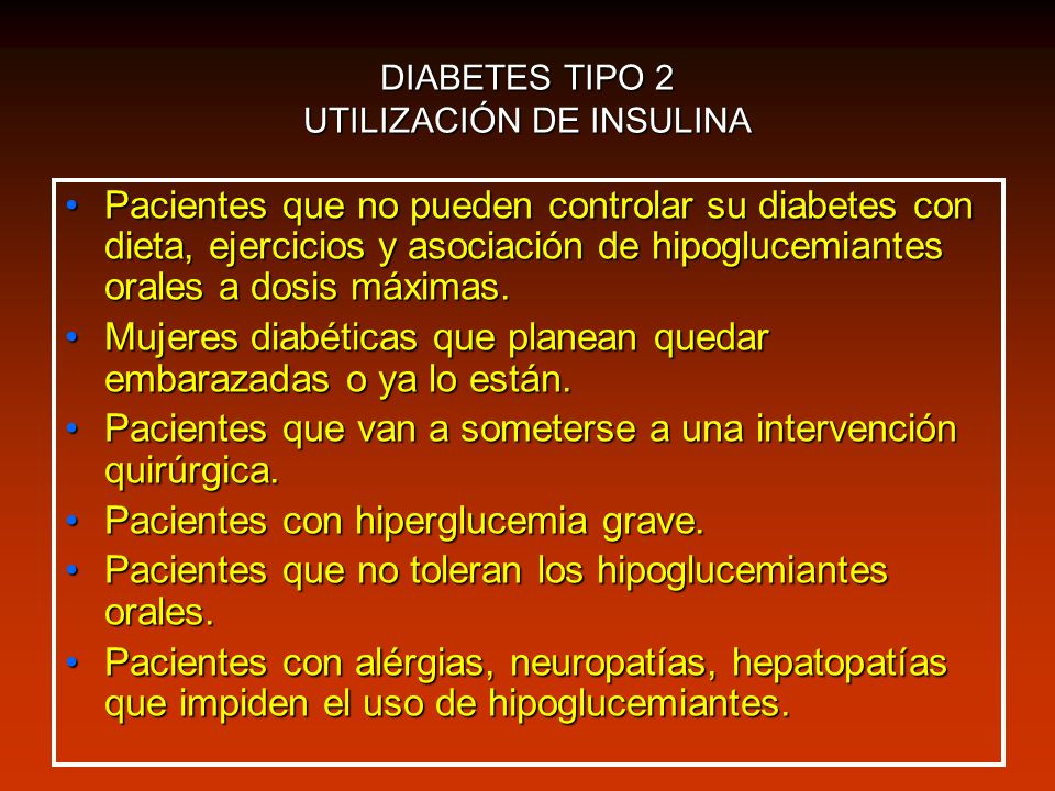 DIABETES TIPO 2 UTILIZACIÓN DE INSULINA