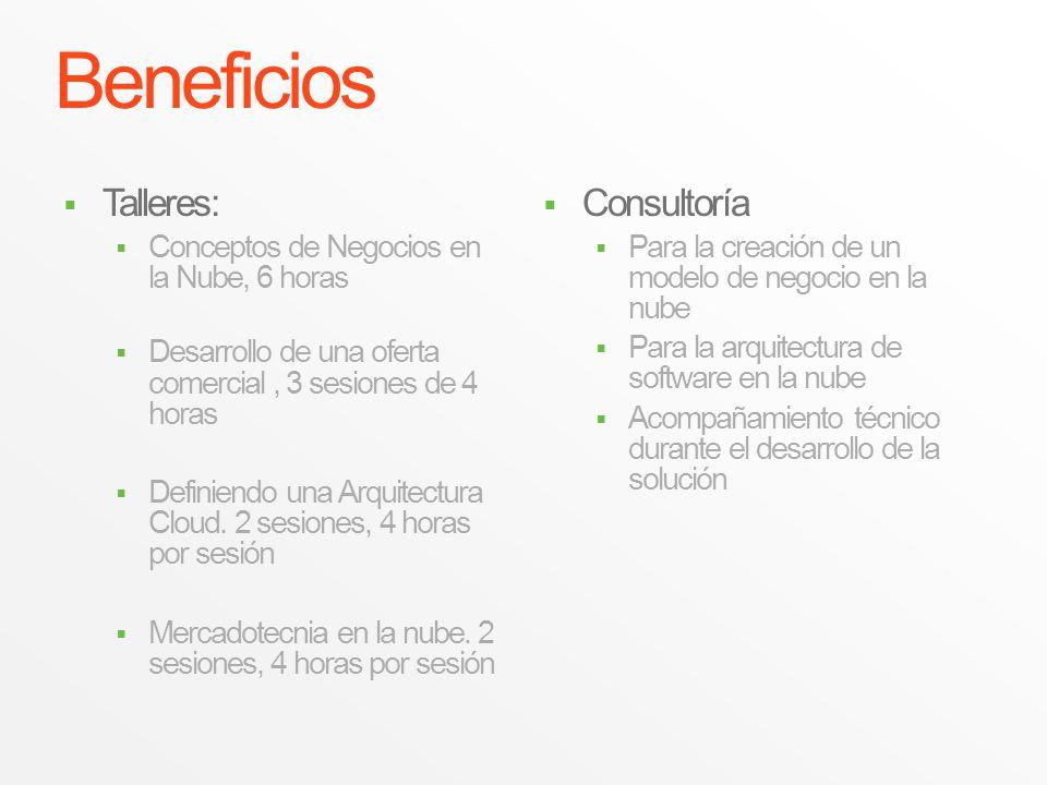 Beneficios Talleres: Consultoría