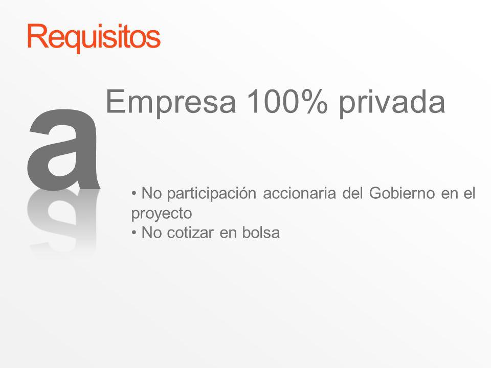 a Requisitos Empresa 100% privada