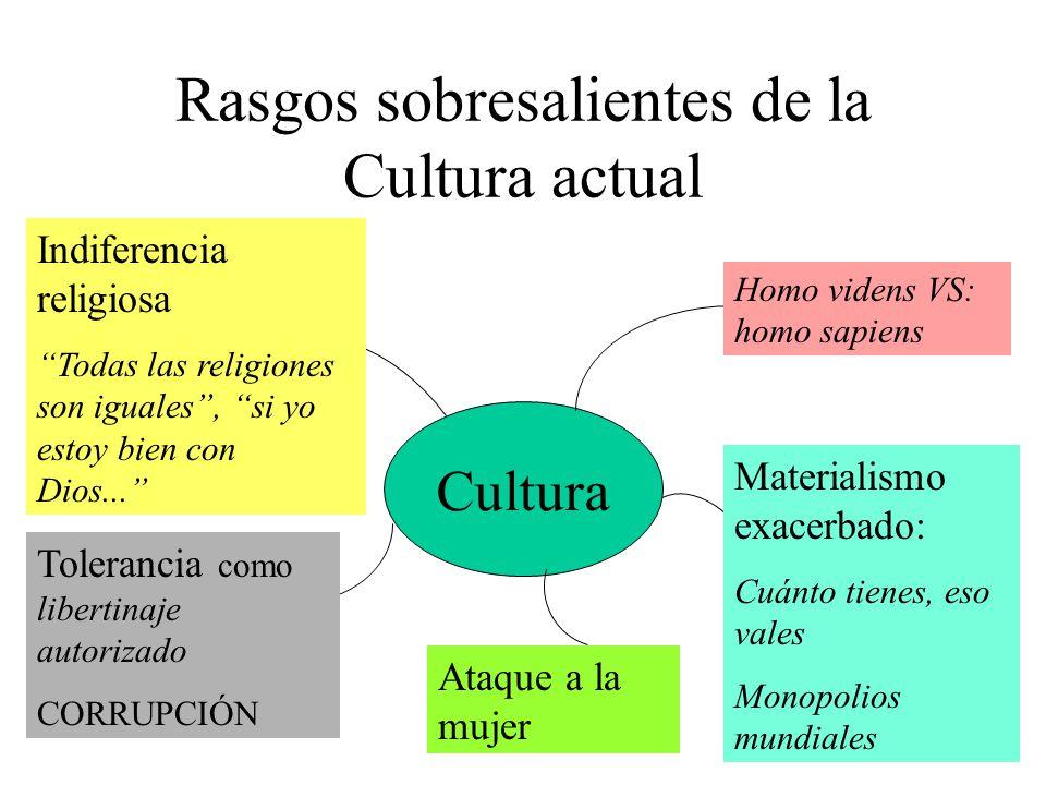 Rasgos sobresalientes de la Cultura actual