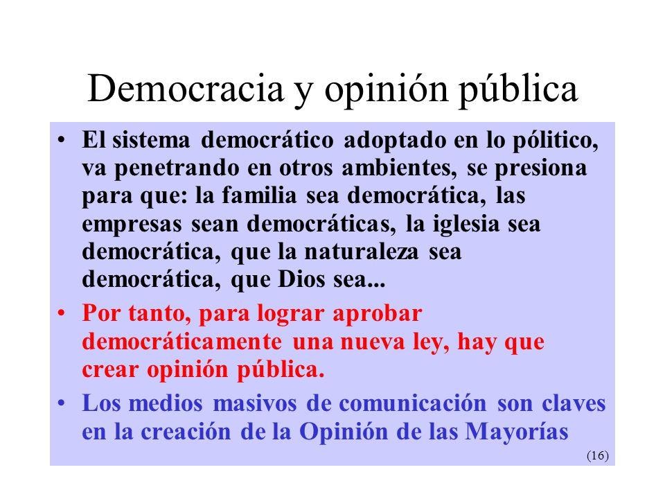 Democracia y opinión pública