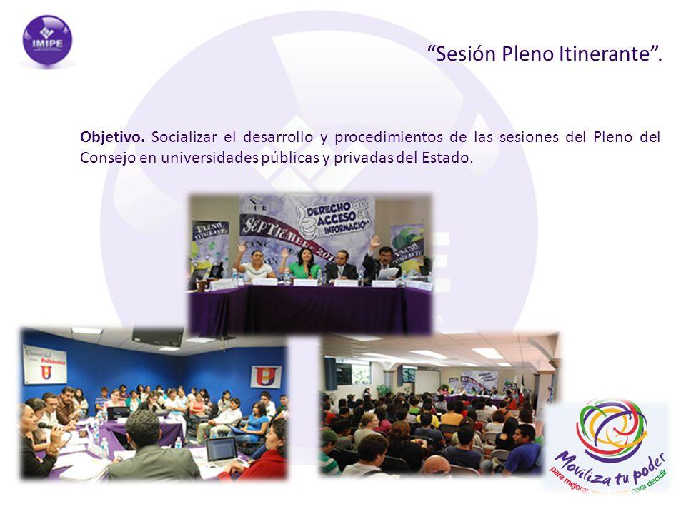 Sesión Pleno Itinerante .