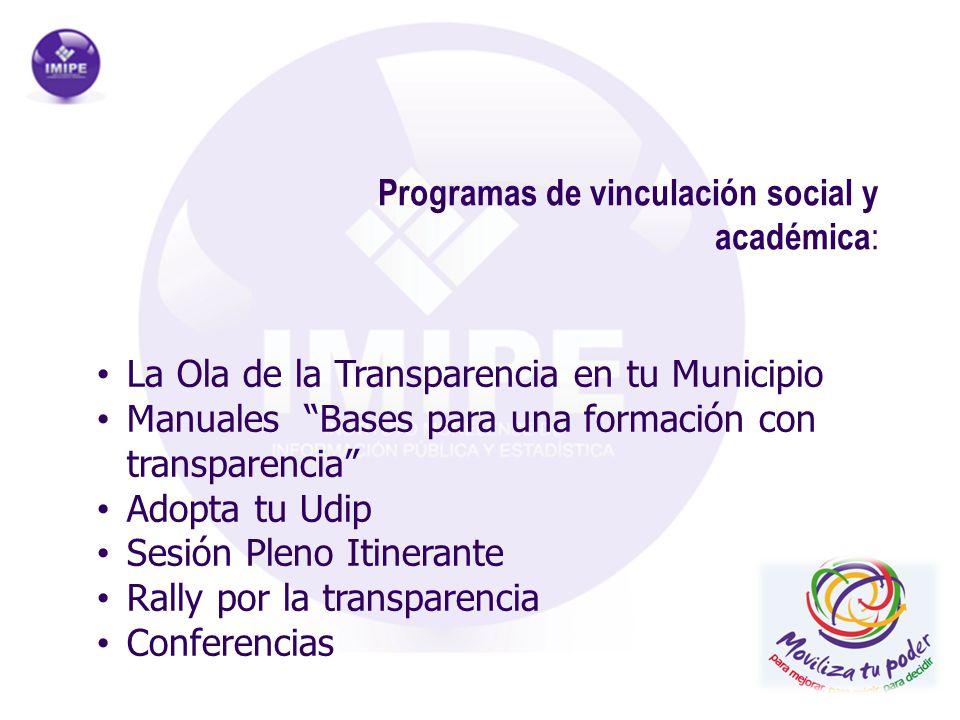 Programas de vinculación social y académica: