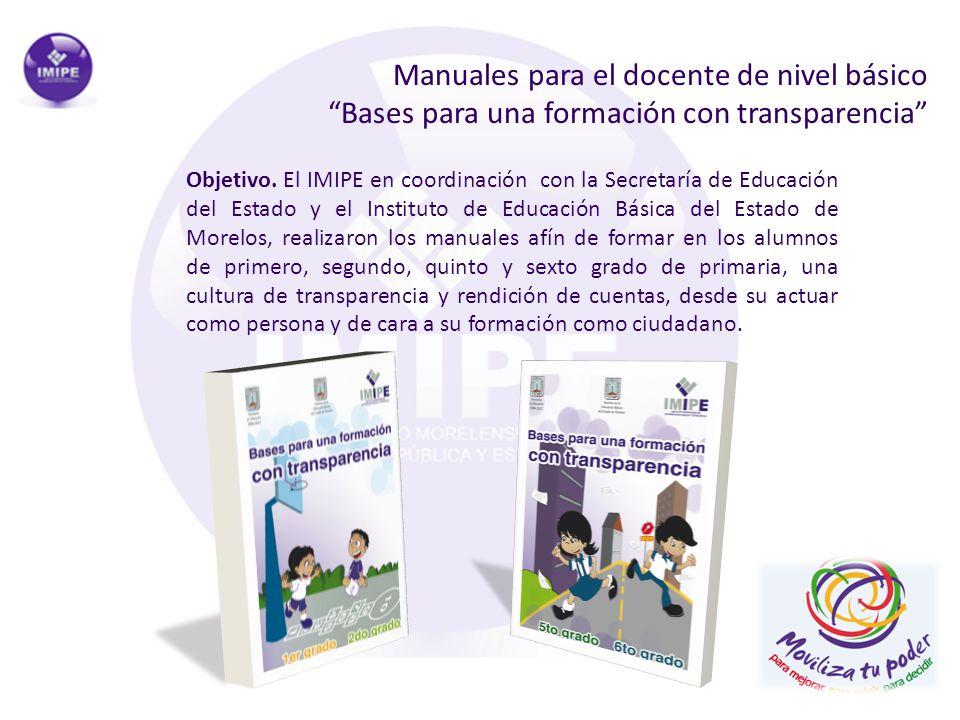 Manuales para el docente de nivel básico Bases para una formación con transparencia