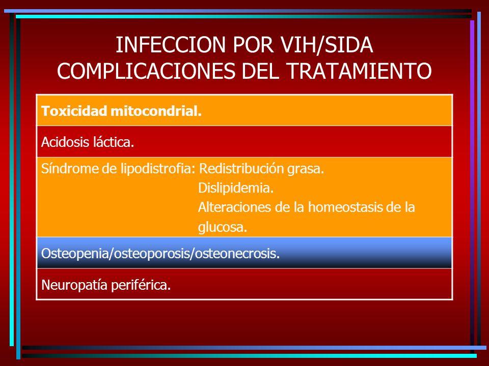 INFECCION POR VIH/SIDA COMPLICACIONES DEL TRATAMIENTO