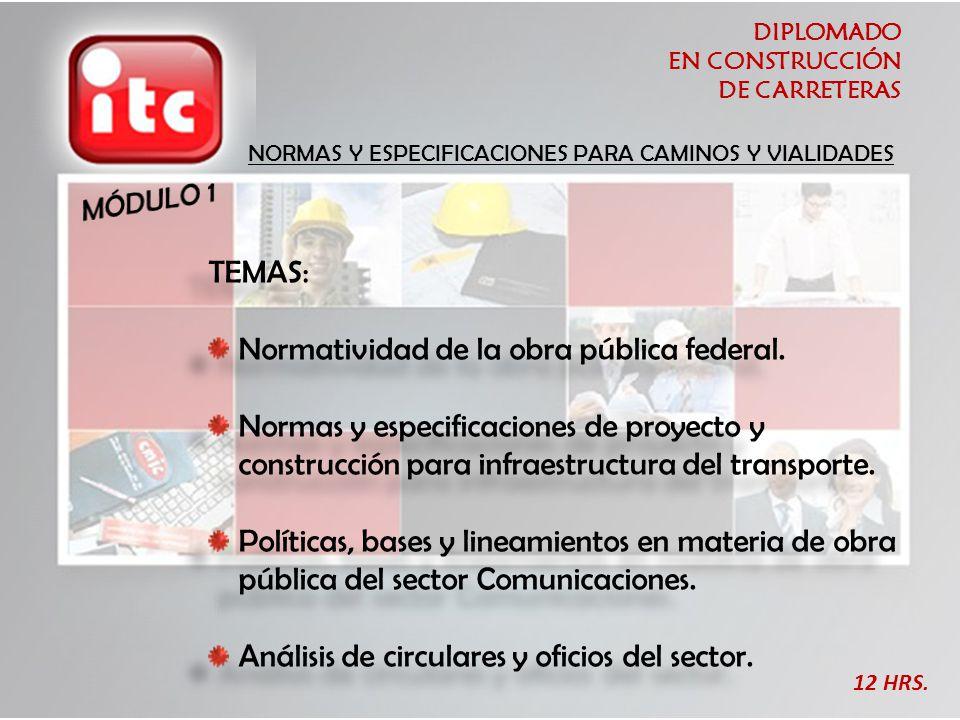Normatividad de la obra pública federal.