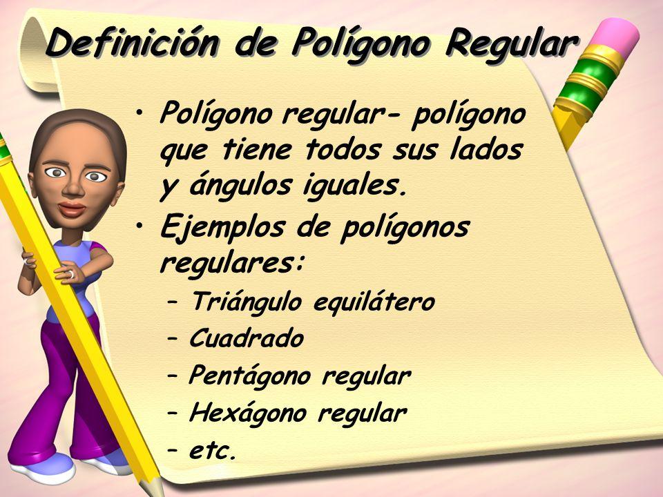 Definición de Polígono Regular
