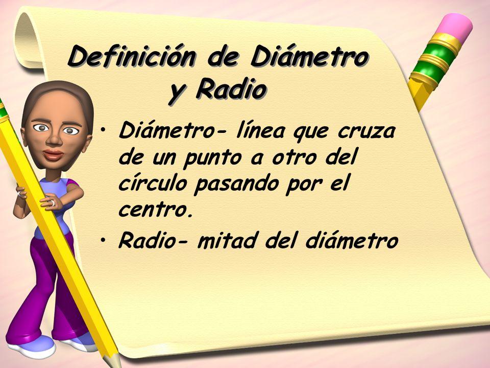 Definición de Diámetro y Radio
