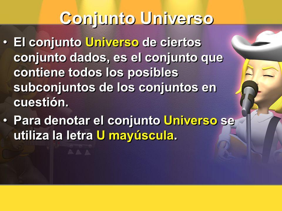 Conjunto Universo
