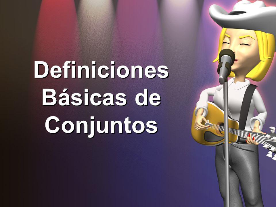 Definiciones Básicas de Conjuntos