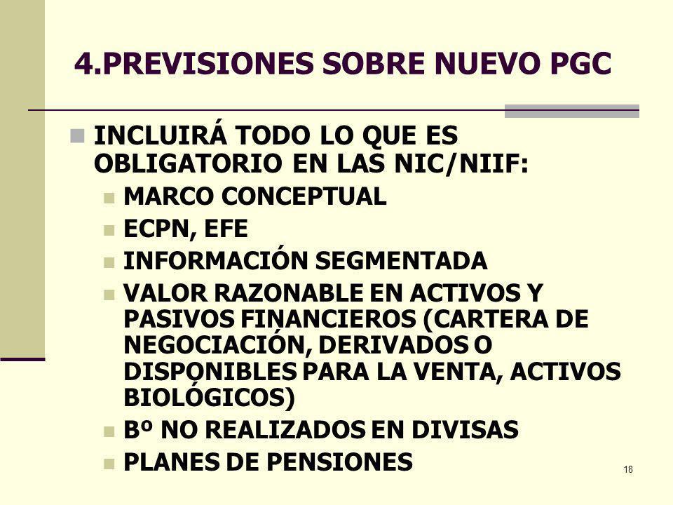 4.PREVISIONES SOBRE NUEVO PGC