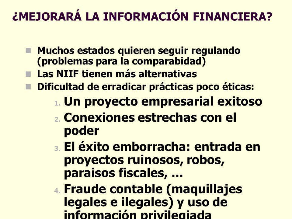 ¿MEJORARÁ LA INFORMACIÓN FINANCIERA