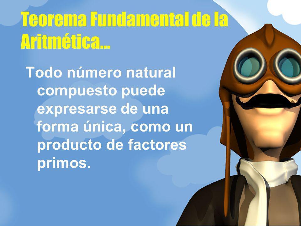Teorema Fundamental de la Aritmética...