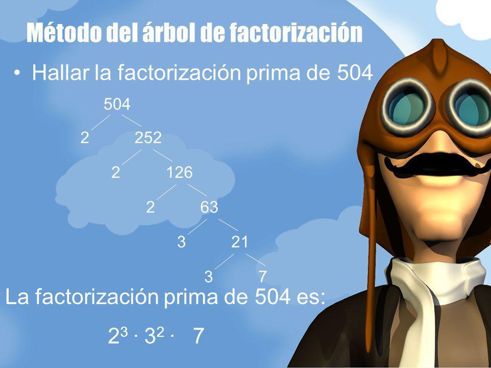 Método del árbol de factorización