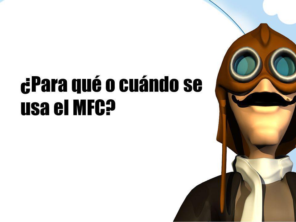 ¿Para qué o cuándo se usa el MFC