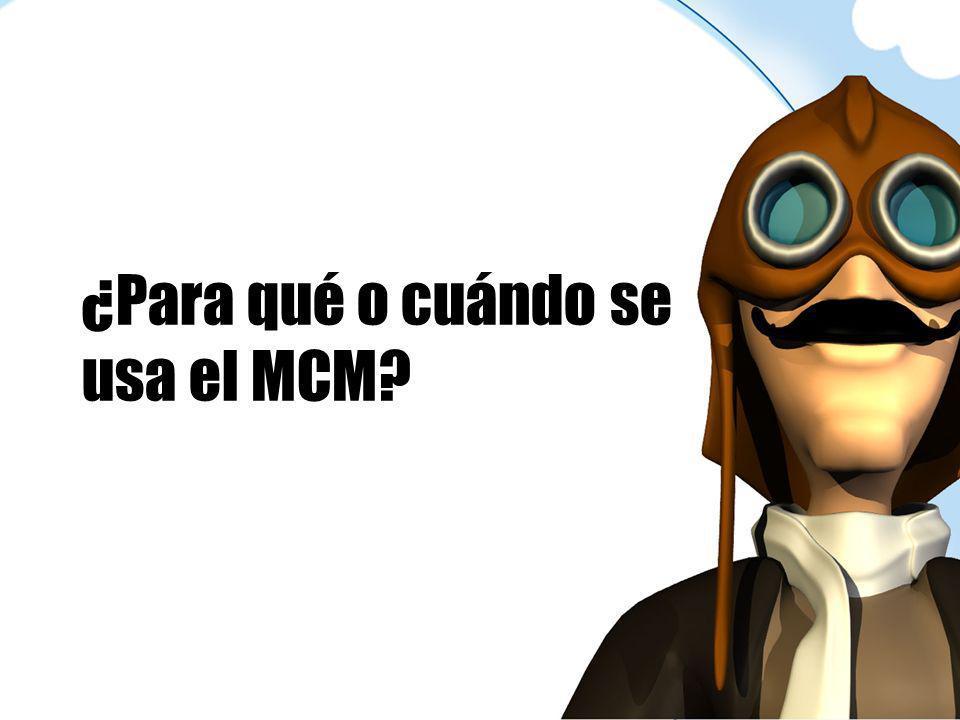 ¿Para qué o cuándo se usa el MCM