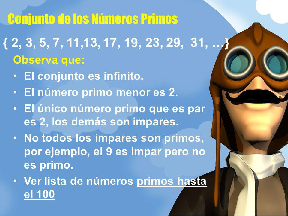 Conjunto de los Números Primos