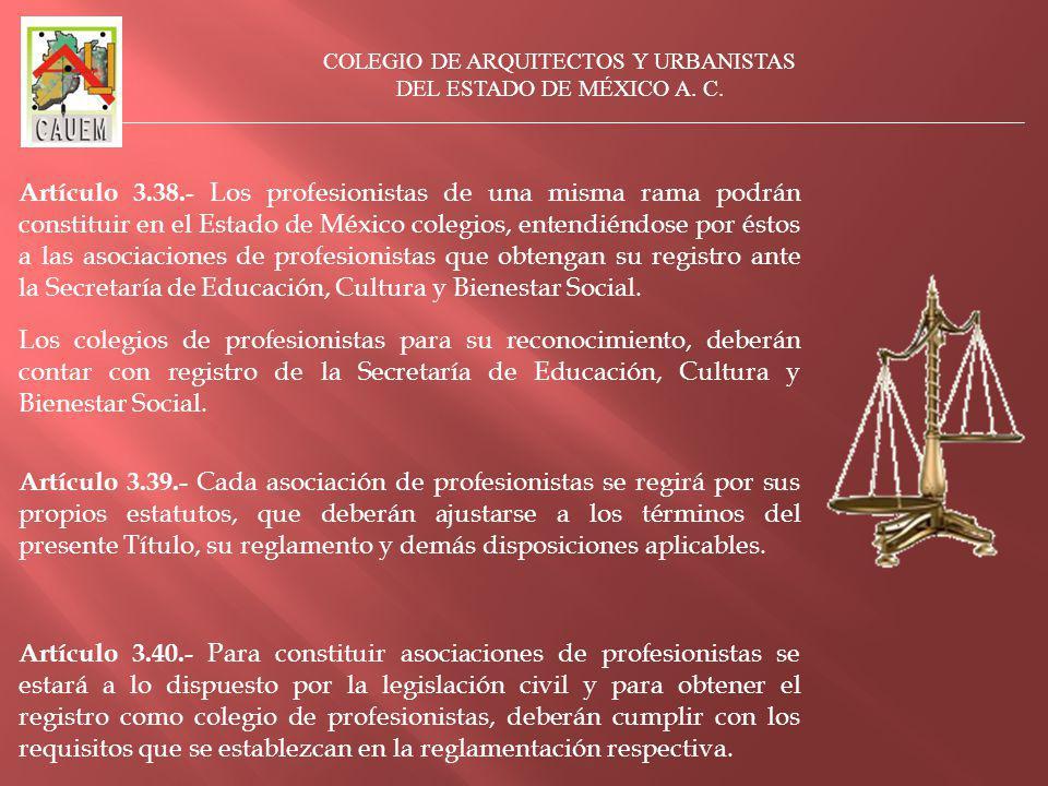 COLEGIO DE ARQUITECTOS Y URBANISTAS