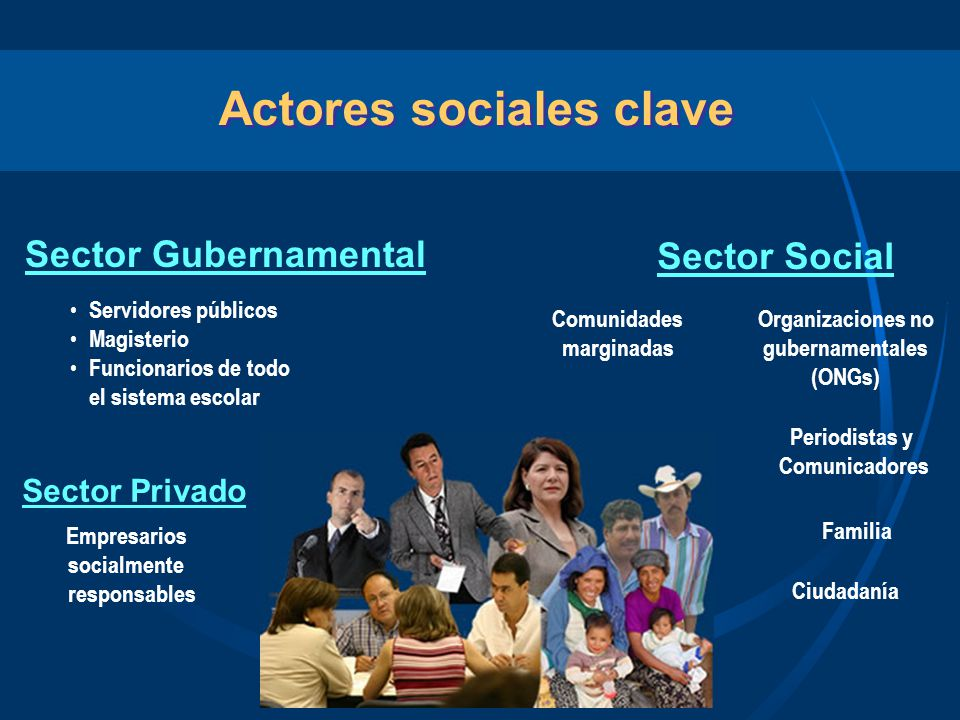 Actores sociales clave